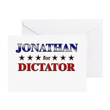 JONATHAN for dictator Greeting Card