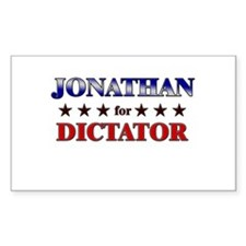 JONATHAN for dictator Rectangle Decal