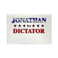 JONATHAN for dictator Rectangle Magnet