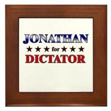 JONATHAN for dictator Framed Tile