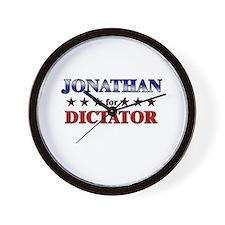 JONATHAN for dictator Wall Clock