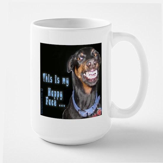 Doberman Pinscher Smiles Large Mug