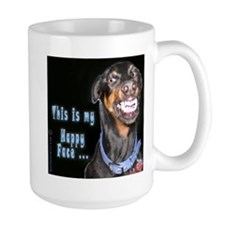 Doberman Pinscher Smiles Mug