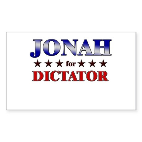 JONAH for dictator Rectangle Sticker