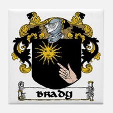 Brady Coat of Arms Tile Coaster