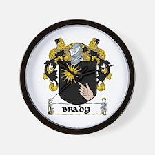 Brady Coat of Arms Wall Clock