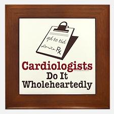 Funny Doctor Cardiologist Framed Tile