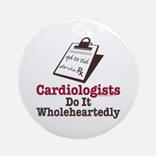 Funny Doctor Cardiologist Ornament (Round)