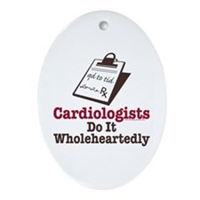 Funny Doctor Cardiologist Oval Ornament