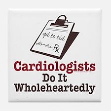 Funny Doctor Cardiologist Tile Coaster