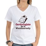 Funny Doctor Cardiologist Women's V-Neck T-Shirt