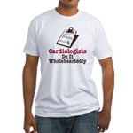 Funny Doctor Cardiologist Fitted T-Shirt