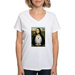 Mona / Pomeranian(w) Women's V-Neck T-Shirt