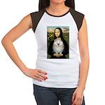 Mona / Pomeranian(w) Women's Cap Sleeve T-Shirt