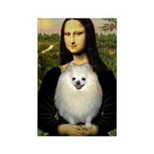 Mona / Pomeranian(w) Rectangle Magnet
