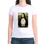 Mona / Pomeranian(w) Jr. Ringer T-Shirt