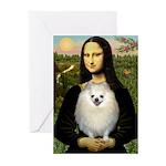 Mona / Pomeranian(w) Greeting Cards (Pk of 10)