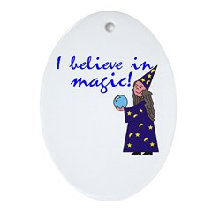 Magic Belief Wizard Oval Ornament