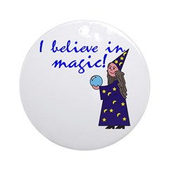 Magic Belief Wizard Ornament (Round)