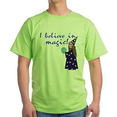Magic Belief Wizard Green T-Shirt