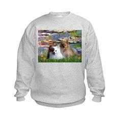 Lilies / 2 Pomeranians Sweatshirt