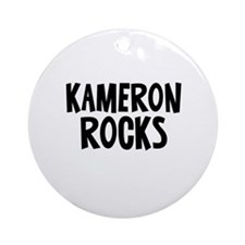 Kameron Rocks Ornament (Round)