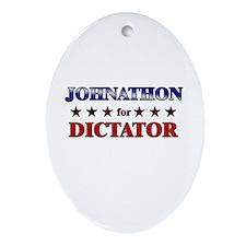 JOHNATHON for dictator Oval Ornament