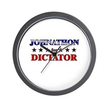 JOHNATHON for dictator Wall Clock