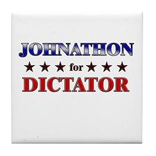 JOHNATHON for dictator Tile Coaster
