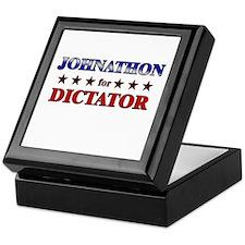 JOHNATHON for dictator Keepsake Box