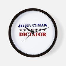 JOHNATHAN for dictator Wall Clock