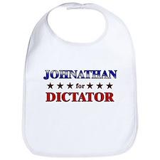 JOHNATHAN for dictator Bib