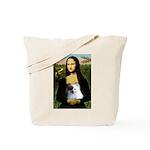 Mona / Pomeranian(r&w) Tote Bag