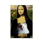 Mona / Pomeranian(r&w) Rectangle Magnet (10 pack)