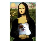 Mona / Pomeranian(r&w) Postcards (Package of 8)