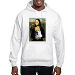 Mona / Pomeranian(r&w) Hooded Sweatshirt