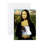 Mona / Pomeranian(r&w) Greeting Cards (Pk of 20)