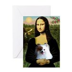 Mona / Pomeranian(r&w) Greeting Card