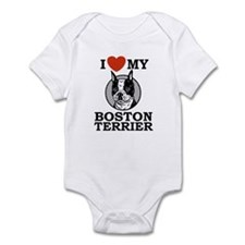 I Love My Boston Terrier Infant Bodysuit