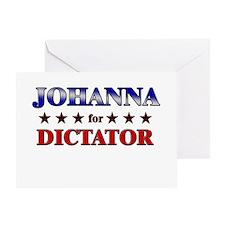 JOHANNA for dictator Greeting Card