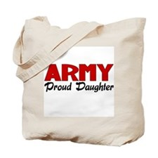 Army Daughter (red) Tote Bag