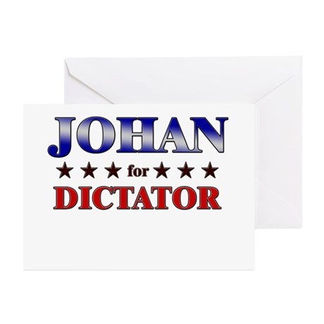 JOHAN for dictator Greeting Cards (Pk of 10)
