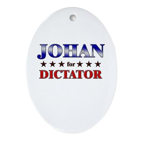 JOHAN for dictator Oval Ornament