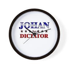 JOHAN for dictator Wall Clock