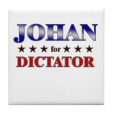 JOHAN for dictator Tile Coaster