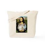 Mona/2 Pomeranians Tote Bag