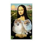 Mona/2 Pomeranians Sticker (Rectangle)