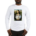 Mona/2 Pomeranians Long Sleeve T-Shirt