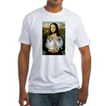 Mona/2 Pomeranians Fitted T-Shirt