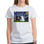 Starry/Pomeranian(r&w) Women's T-Shirt